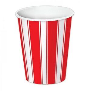 Bekers Circus gestreept rood wit