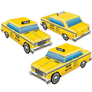 Tafeldecoraties Taxi New York City 3 stuks