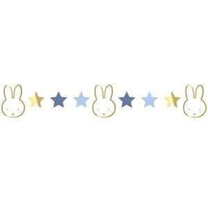 Slinger Nijntje met sterren blauw-goud