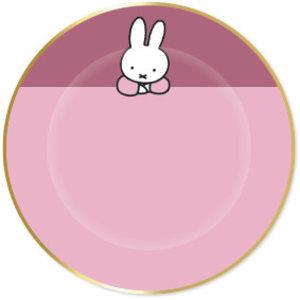 Bordjes Nijntje goud roze 8 stuks