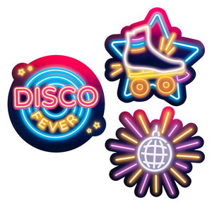 Decoraties DISCO FEVER 3 stuks
