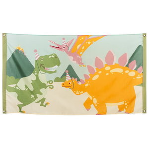 Vlag Dino party 90cm x 150cm