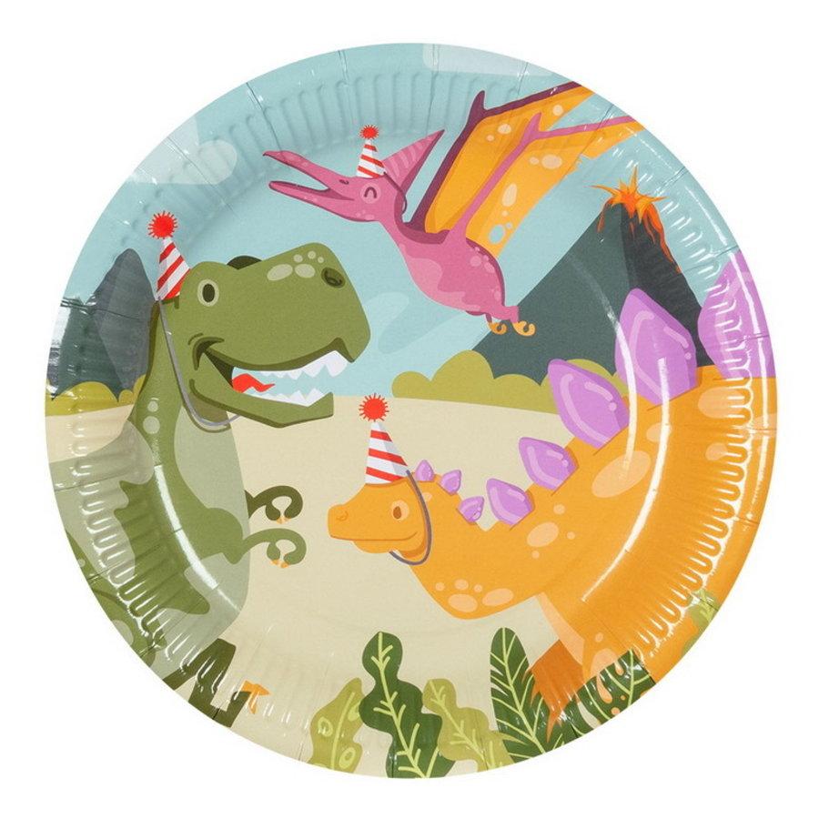 Bordjes Dino party 6 stuks