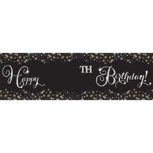 Spandoek Happy Birthday voor elke leeftijd