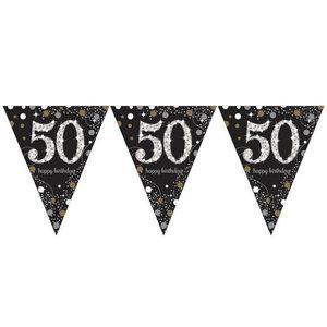 Vlaggenlijn 50 jaar goud zilver zwart