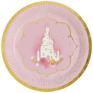 Bordjes Prinsessen kasteel 8 stuks