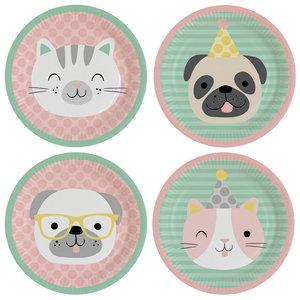 Bordjes Hello Pets 8 stuks
