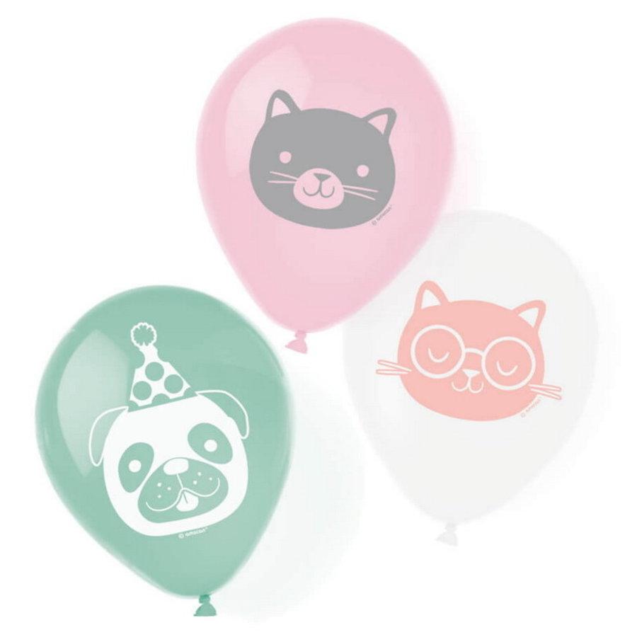 Ballonnen Happy Pets 6 stuks