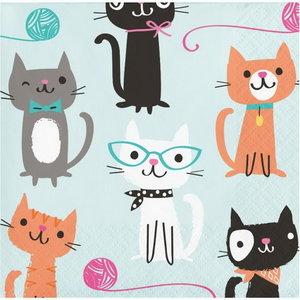 Servetten Party Cats groen 16 stuks