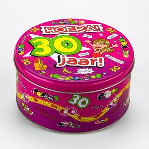 Snoep koekjes trommel 30 jaar vrouw