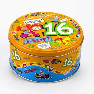 Snoep koekjestrommel 16 jaar