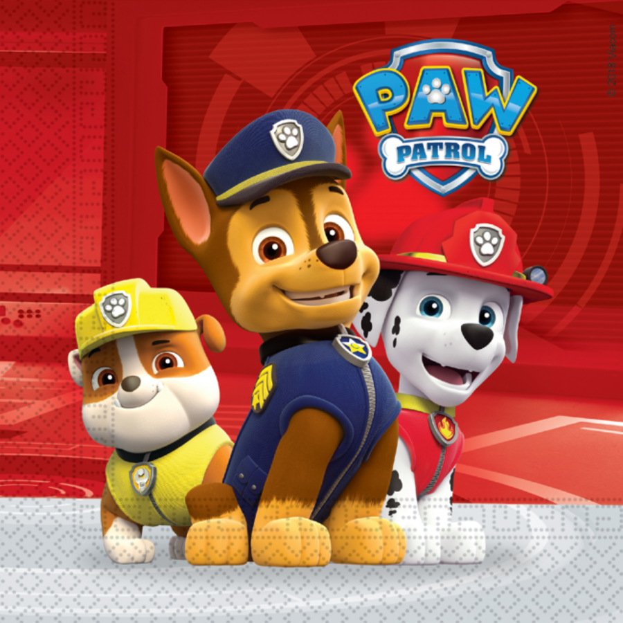 Servetten Paw Patrol ready to action 20 stuks