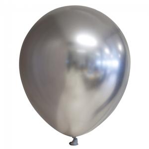 Chrome ballonnen zilverkleurig 10 stuks