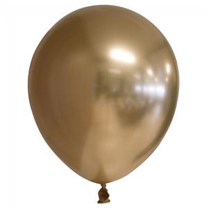 Chrome ballonnen goudkleurig 10 stuks