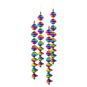 Slinger spiraal regenboog 4 stuks