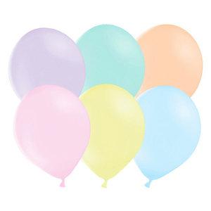 Ballonnen pastelkleuren 10 stuks 27cm