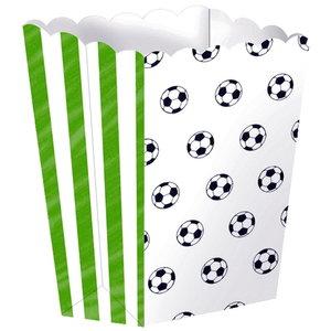 Popcorn bakjes voetbal 4 stuks