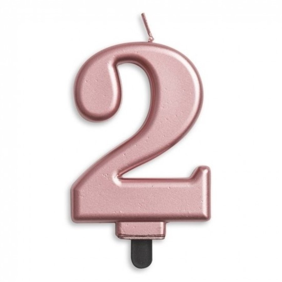 Kaars 2 jaar rosé luxe