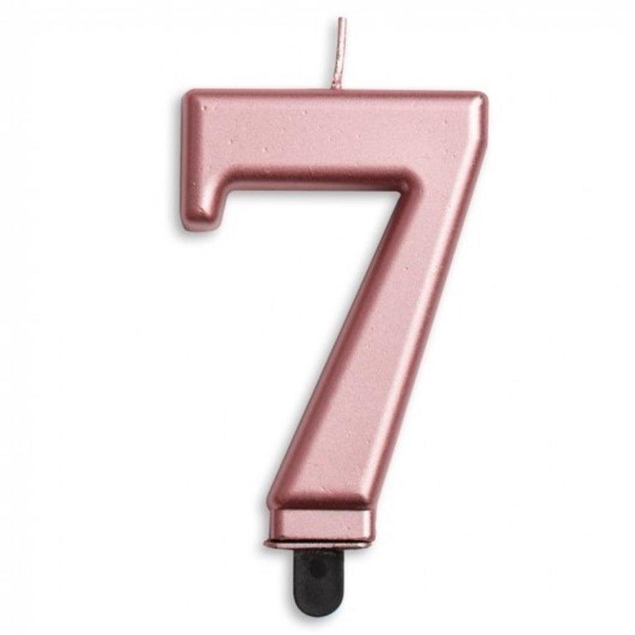 Kaars 7 jaar rosé luxe