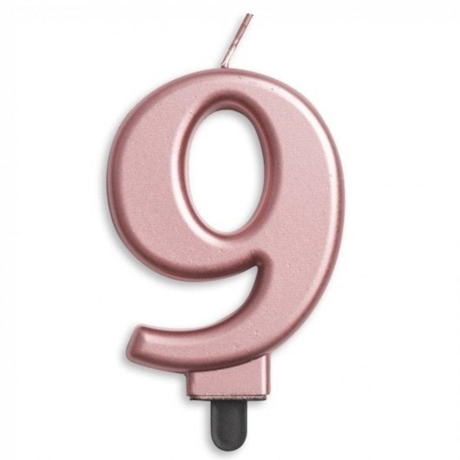 Kaars 9 jaar rosé luxe