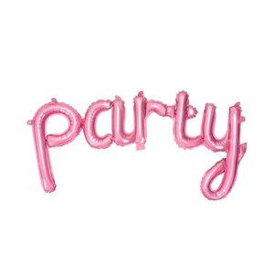 Folieballonnen Party Pink