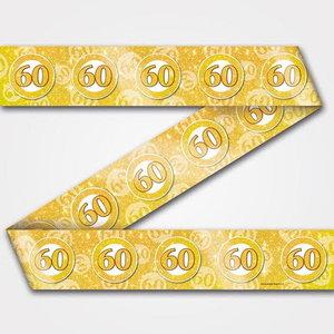 Decoratie lint 60 jaar goud
