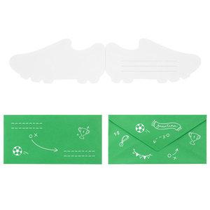 Uitnodigingskaartjes Voetbalschoen 6 stuks