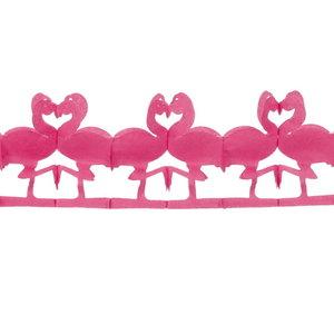Slinger Flamingo roze 250cm
