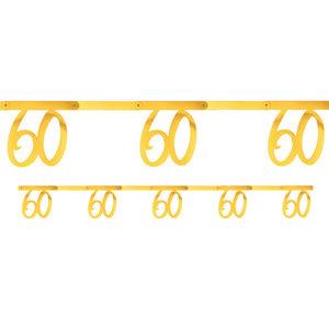 Slinger 60 jaar goudkleurig metallic 2.5m