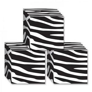 Tafeldecoraties zebra blokken 3 stuks