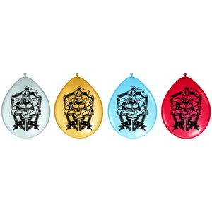 Ballonnen ridder 8 stuks