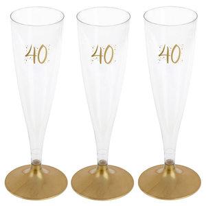 Party Proost glas 40 jaar 6 stuks
