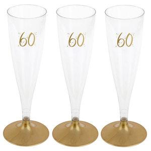 Party Proost glas 60 jaar 6 stuks