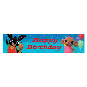 Spandoek Bing Happy Birthday 2.7m folie