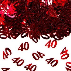 Confetti glitter 40 jaar ROOD