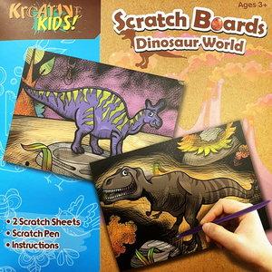 Scratch Board Dinosaurus 2 stuks