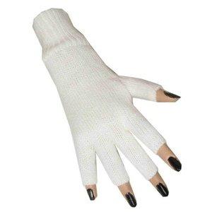 Handschoenen vingerloos wit