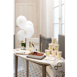Bordjes 40 jaar stijlvol goud wit 10 stuks