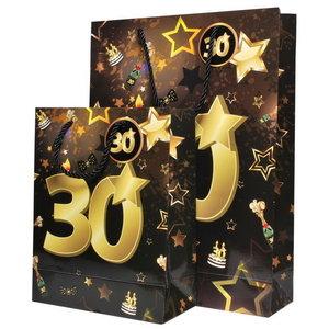 Tassenset 30 jaar goud-zwart