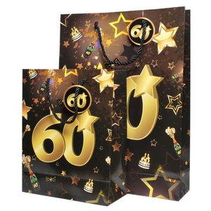 Tassenset 60 jaar goud-zwart