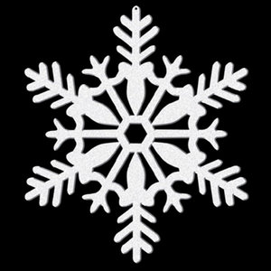 Sneeuwvlok glitter klein wit 4 stuks
