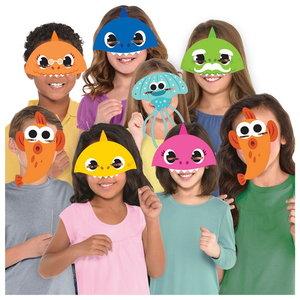Maskers Baby Shark 8 stuks
