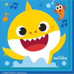 Servetten Baby Shark 16 stuks