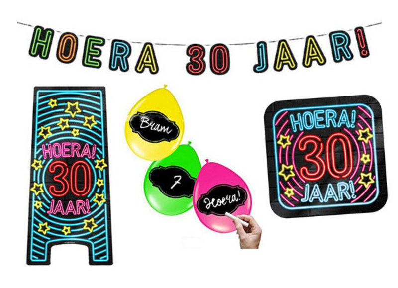 30 jaar neon party