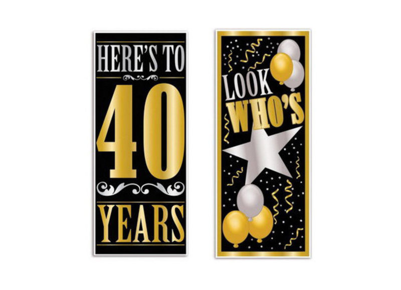 40 jaar deurposters