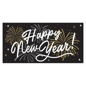 Spandoek Happy New Year groot