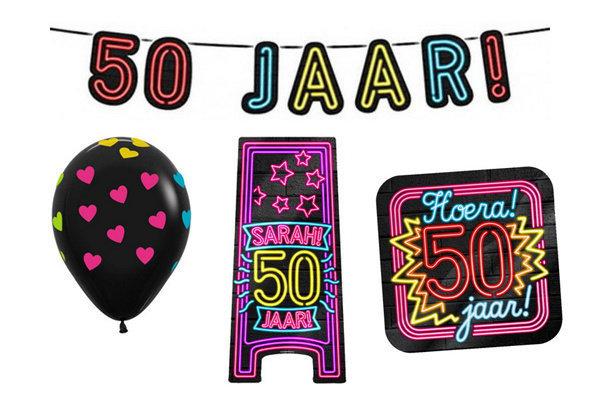 50 jaar neon party