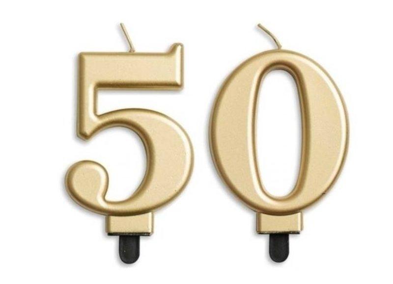 50 jaar taartkaarsjes