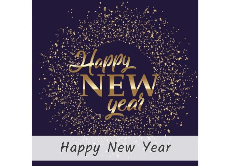 Happy new year oud en nieuw versiering
