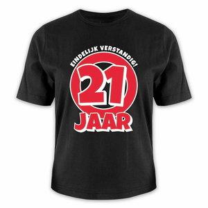 T-shirt 21 jaar eindelijk verstandig